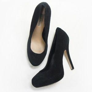 Steve Madden TRAISIE Black Suede Pump Heels